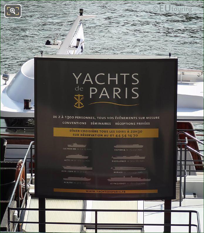 Yachts De Paris Information Board